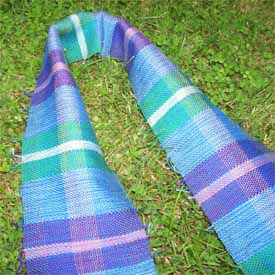 Woven Plaid Scarf by Jane Kimmel