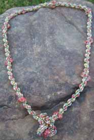 Pink Crystal Necklace by Jane Kimmel