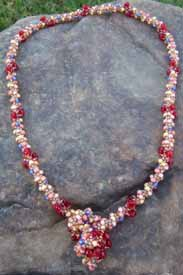 Red Crystal Necklace by Jane Kimmel